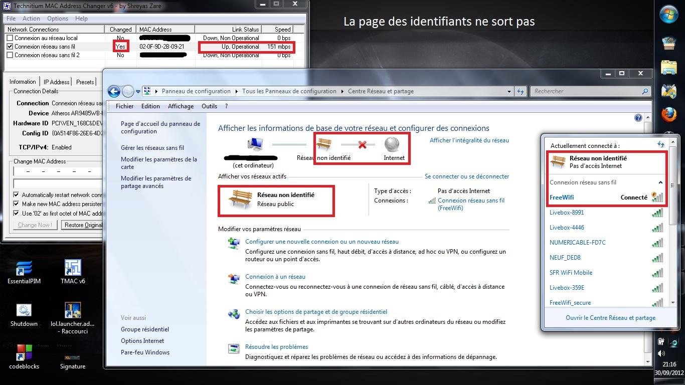 Comment se connecter a free wifi en 3 clics - Comment connecter un ordinateur de bureau en wifi ...