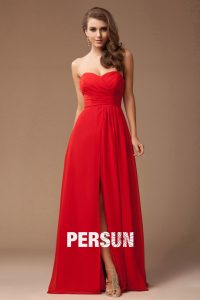 robe rouge longue